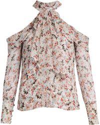 Erdem - Aila Floral-print Silk-voile Blouse - Lyst