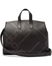 51d7cc14c6c3 Gucci Embossed Faux-Leather Gym Bag in Natural for Men - Lyst