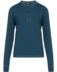 RRL - Long-sleeved Cotton Henley T-shirt - Lyst