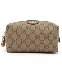 9c511af78728 Gucci Pink Gg Supreme Canvas Bree Crossbody in Pink - Lyst