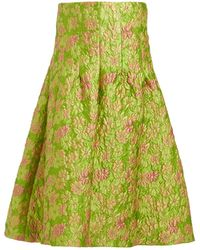 Isa Arfen - Sculpted Floral Brocade Midi Skirt - Lyst