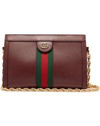 1efb71de35f232 Gucci Lady Web Mini Leather Cross-body Bag in Pink - Lyst