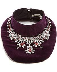 Mary Katrantzou | Crystal-embellished Velvet Bib Necklace | Lyst