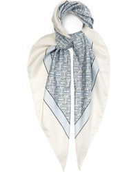 Burberry - Monogram Print Silk Faille Scarf - Lyst