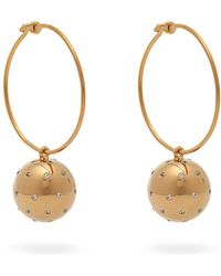 Theodora Warre - Gold Plated Ball And Hoop Earrings - Lyst