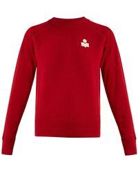 Étoile Isabel Marant - Makati Flocked-logo Cotton-blend Sweatshirt - Lyst