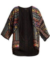 Etro - - Multi Print Silk Jacket - Womens - Black - Lyst