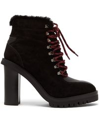 Valentino - Women's Leather Trekking Ankle Booties - Black - Size 35 (5) - Lyst