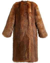 Givenchy - Single Breasted Faux Fur Coat - Lyst