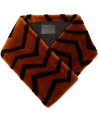 Givenchy - Striped Lamb Shearling Scarf - Lyst