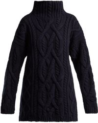 CONNOLLY - Cable Knitted Wool And Cashmere Jumper - Lyst