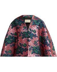 Gucci - Floral Metallic Brocade Cape - Lyst