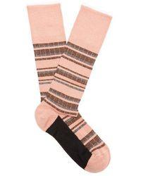 Marni - Striped Cotton-blend Socks - Lyst