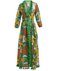 Rhode Resort - Lena Pineapple-print Cotton Midi Dress - Lyst