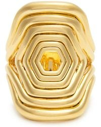 Fernando Jorge - Yellow-gold Cushioned Lines Ring - Lyst