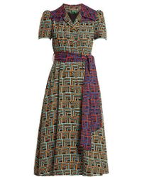 Duro Olowu - Geometric-print Notch-lapel Dress - Lyst