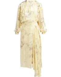 Preen By Thornton Bregazzi - Doreen Floral Devoré Silk Blend Dress - Lyst