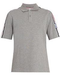 Moncler Gamme Bleu - Contrast Collar Cotton Piqué Polo Shirt - Lyst