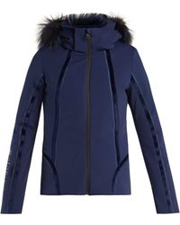 Fendi - Roma Logo Embroidered Ski Jacket - Lyst