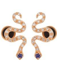 Ileana Makri - Diamond, Sapphire & Rose-gold Snake Earrings - Lyst