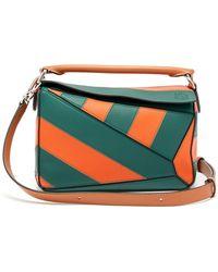 53283112fd2 Valentino My Rockstud Striped Leather Bag - Lyst