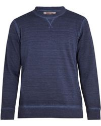 120% Lino - Linen And Cotton-blend Sweatshirt - Lyst