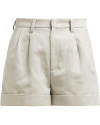 Isabel Marant - Kab Pleated Front Cotton Blend Shorts - Lyst