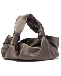 The Row - The Ascot Satin Clutch Bag - Lyst