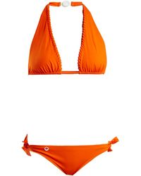 Fendi - Lace-up Halterneck Tie-side Bikini Set - Lyst