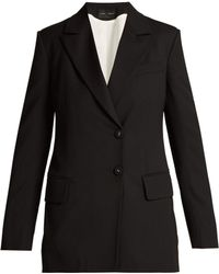 Proenza Schouler - Single Breasted Wool Blend Blazer - Lyst