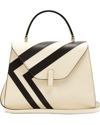 Valextra - Iside Medium Striped Grained Leather Bag - Lyst