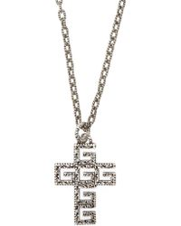 c4991e4ce Gucci Pineapple Ghost Engraved Sterling Silver Necklace in Metallic for Men  - Lyst