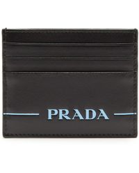Prada - Logo Debossed Card Holder - Lyst