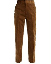 Toga - Scallop-edge Cotton-corduroy Trousers - Lyst