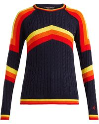 Perfect Moment - Tignes Cable Knit Wool Jumper - Lyst