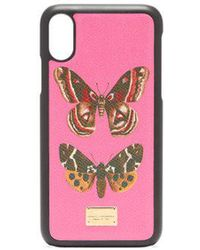 Dolce & Gabbana - - Butterfly Print Iphone® X Case - Womens - Pink Multi - Lyst