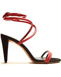 Isabel Marant | Abigua Tie-ankle Leather Sandals | Lyst