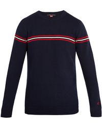 Perfect Moment   Orelle Striped-detail Wool Sweater   Lyst