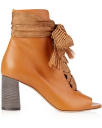 Chloé | Harper Lace-up Leather Ankle Boots | Lyst