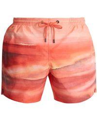 Marané - The Horizon-print Swim Shorts - Lyst