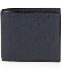 Valextra - Bi Fold Grained Leather Wallet - Lyst