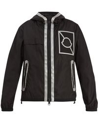 696cf74c6d42 Lyst - Moncler Quilted-down Panel Hooded Jacket in Black for Men