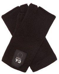 Y-3 - Logo Fingerless Gloves - Lyst