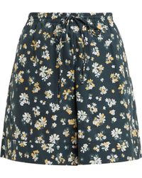 See By Chloé - Floral Print Wide Leg Cotton Shorts - Lyst