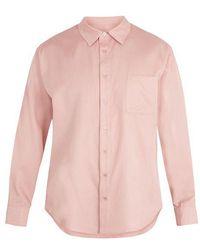 Sies Marjan - Point-collar Silk-blend Twill Shirt - Lyst