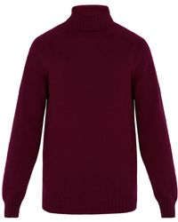 Officine Generale - High Neck Seamless Wool Sweater - Lyst