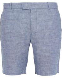 Frescobol Carioca - Slim-leg Linen-blend Shorts - Lyst