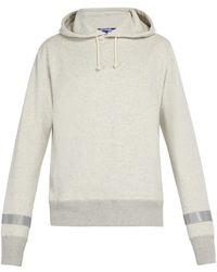 Junya Watanabe - Reflective-trim Cotton-jersey Hooded Sweatshirt - Lyst