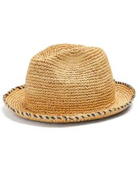 Federica Moretti   Gil Contrasting Brim-stitch Straw Hat   Lyst