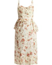 Brock Collection - Dailey Rose-print Cotton-voile Dress - Lyst